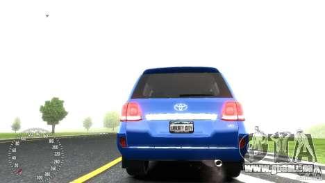 Toyota Land Cruiser 200 RESTALE pour GTA 4 Vue arrière