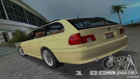 BMW 5S Touring E39 pour une vue GTA Vice City de la gauche
