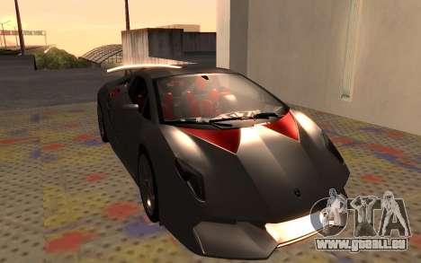 Lamborghini Sesto Elemento 2011 pour GTA San Andreas laissé vue