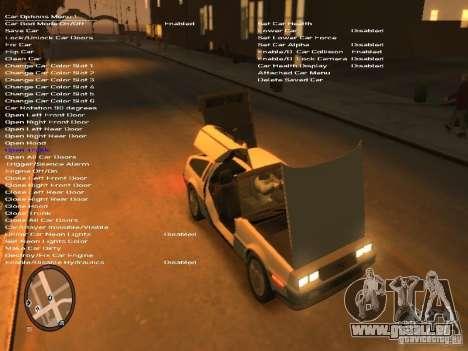 De Lorean DMC 12 pour GTA 4 est un côté