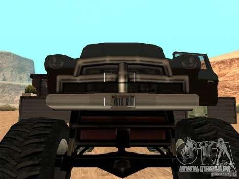 Walton Monster pour GTA San Andreas vue arrière
