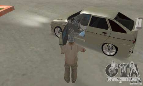 LADA 2112 Tuning (F) pour GTA San Andreas vue intérieure