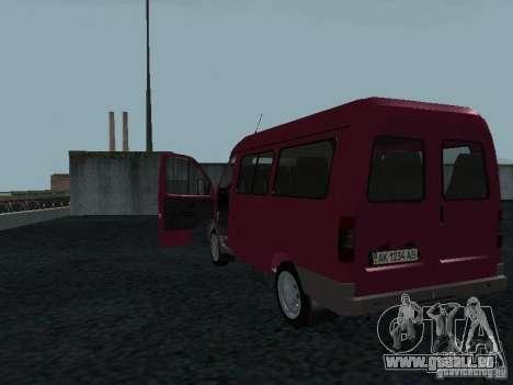 GAZ 2217 Sobol für GTA San Andreas rechten Ansicht
