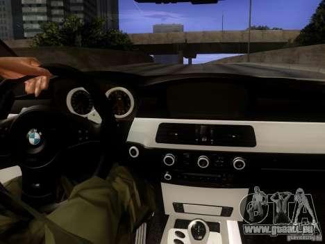 BMW M5 E60 2009 pour GTA San Andreas vue intérieure
