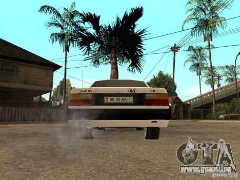 Audi 100 pour GTA San Andreas sur la vue arrière gauche