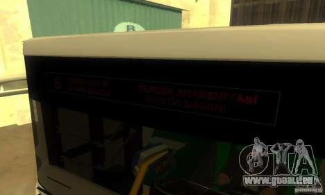 Daewoo Bus BC211MA pour GTA San Andreas sur la vue arrière gauche