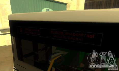 Daewoo Bus BC211MA für GTA San Andreas zurück linke Ansicht