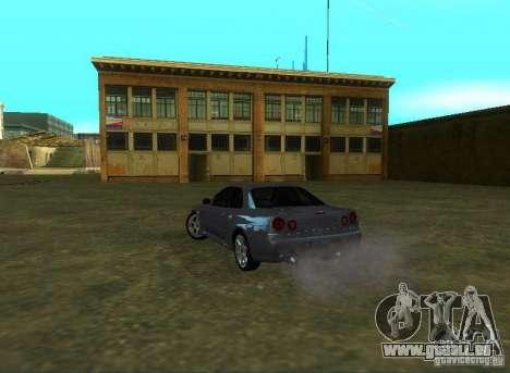 Nissan Skyline GTR-34 für GTA San Andreas zurück linke Ansicht