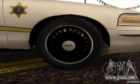 Ford Crown Victoria Illinois Police für GTA San Andreas rechten Ansicht