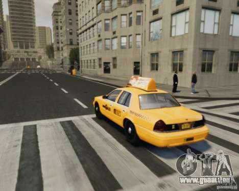 Ford Crown Victoria NYC Taxi 2012 pour GTA 4 est une vue de l'intérieur