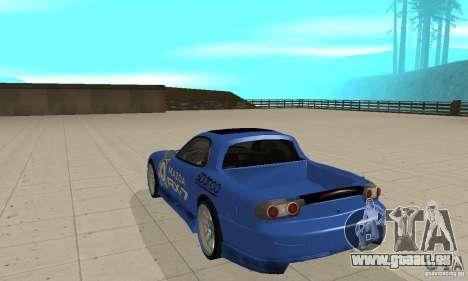 Mazda RX-7 Pickup pour GTA San Andreas vue de droite