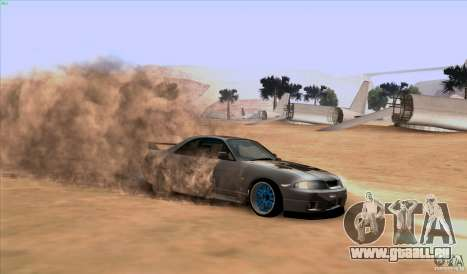 Nissan Skyline GTR 33 Fatlace pour GTA San Andreas vue intérieure