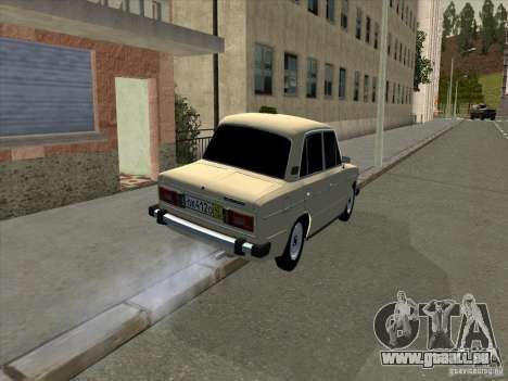 VAZ 2106 Taxi für GTA San Andreas zurück linke Ansicht