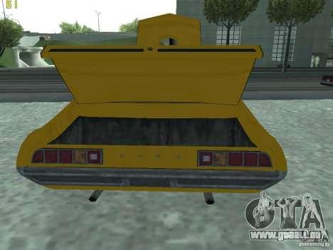 Ford Torino 70 für GTA San Andreas Rückansicht