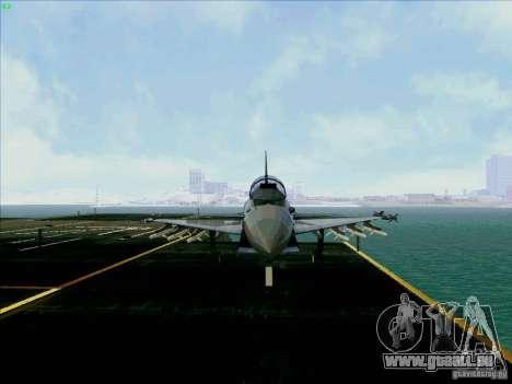 Eurofighter-2000 Typhoon pour GTA San Andreas vue arrière
