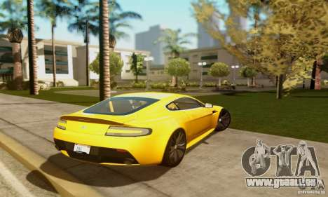 Aston Martin V12 Vantage pour GTA San Andreas vue arrière