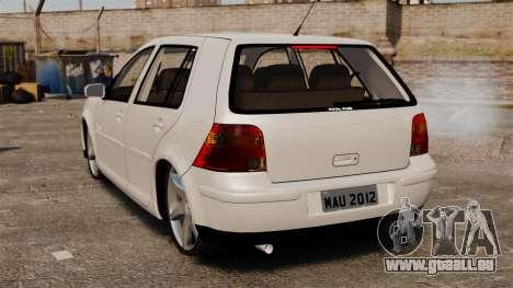 Volkswagen Golf Flash Edit für GTA 4 hinten links Ansicht