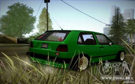 VW Golf MK2 Stanced pour GTA San Andreas vue de côté