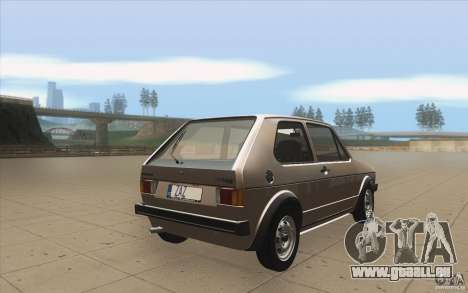 Volkswagen Golf Mk1 - Stock pour GTA San Andreas vue de côté