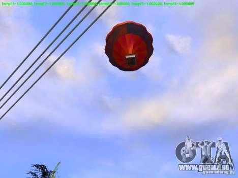 Ballon-Stil hippie für GTA San Andreas rechten Ansicht