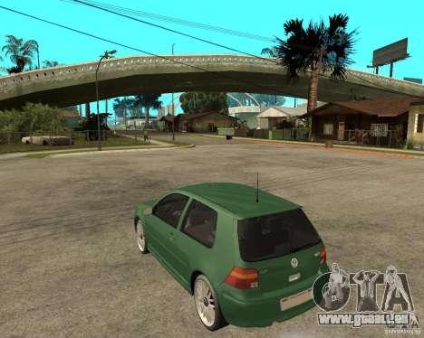 Volkswagen Golf IV GTI pour GTA San Andreas laissé vue
