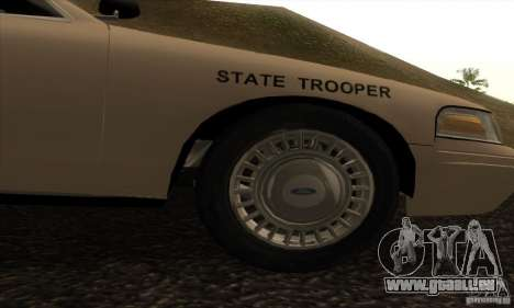 Ford Crown Victoria Iowa Police pour GTA San Andreas vue de droite
