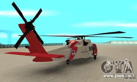 HH-60 Jayhawk USCG pour GTA San Andreas laissé vue