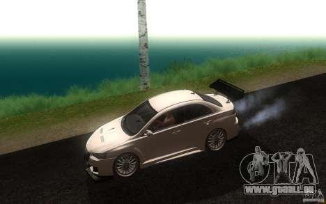 Mitsubishi Lancer EVO X drift Tune pour GTA San Andreas laissé vue