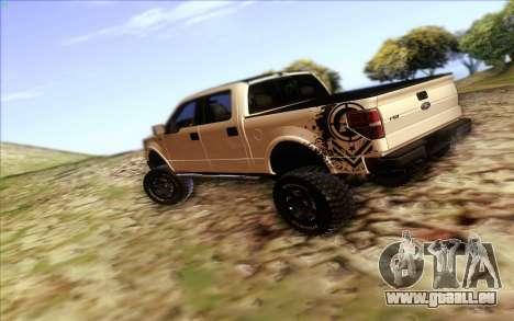 Ford F-150 Carryer Metal Mulisha pour GTA San Andreas sur la vue arrière gauche