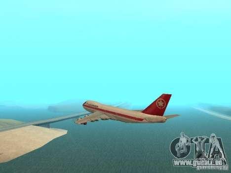 Boeing 747 Air Canada für GTA San Andreas linke Ansicht
