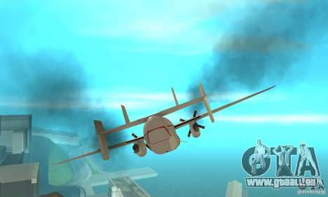 C-2 Greyhound pour GTA San Andreas vue de côté