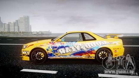 Nissan Skyline R34 GT-R Tezuka Goodyear D1 Drift für GTA 4 linke Ansicht