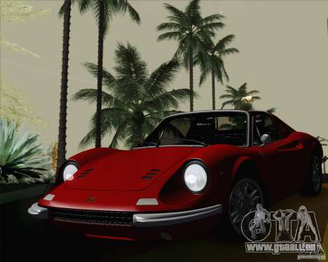 Ferrari 246 Dino GTS pour GTA San Andreas vue arrière