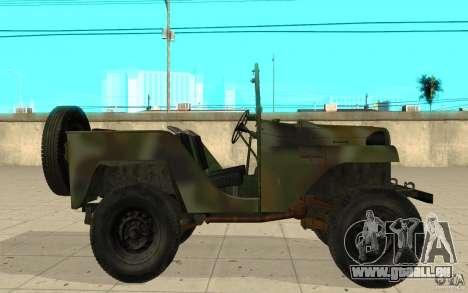 Gaz-64 peau 2 pour GTA San Andreas laissé vue