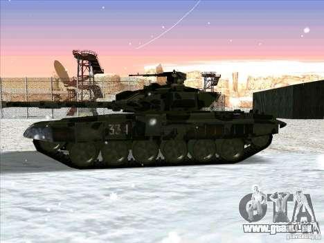 T-90 de Battlefield 3 pour GTA San Andreas sur la vue arrière gauche