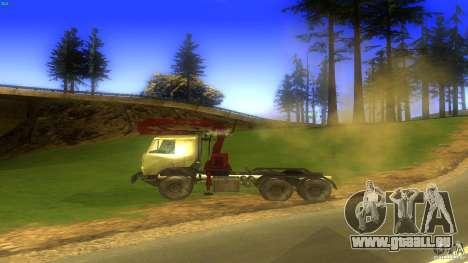 Kamaz pour GTA San Andreas laissé vue