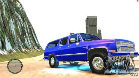 Chevrolet Suburban 1986 pour GTA 4 est une vue de l'intérieur