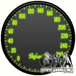 Compteur de vitesse IV (peau 7) pour GTA 4