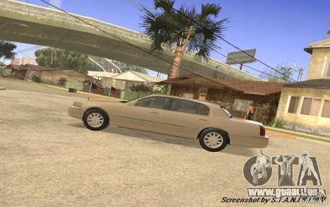 Lincoln Towncar Secret Service pour GTA San Andreas vue arrière