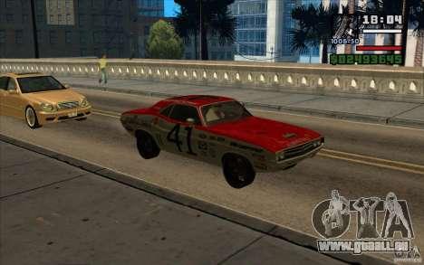 Dodge Challenger 1971 für GTA San Andreas zurück linke Ansicht