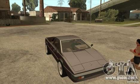Lotus Esprit S3 für GTA San Andreas Rückansicht