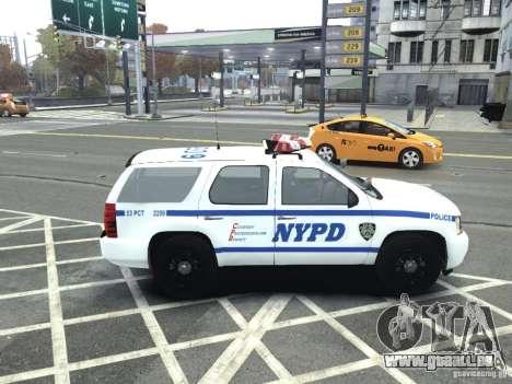 Chevrolet Tahoe NYCPD für GTA 4 linke Ansicht