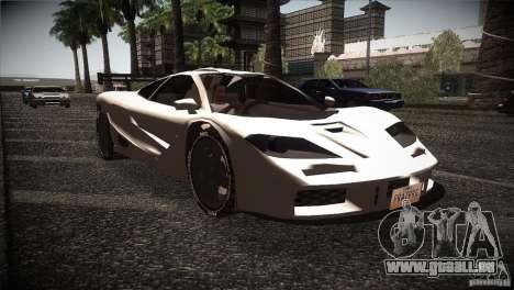 McLaren F1 LM für GTA San Andreas Rückansicht