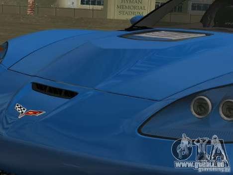 Chevrolet Corvette ZR1 für GTA Vice City Innenansicht