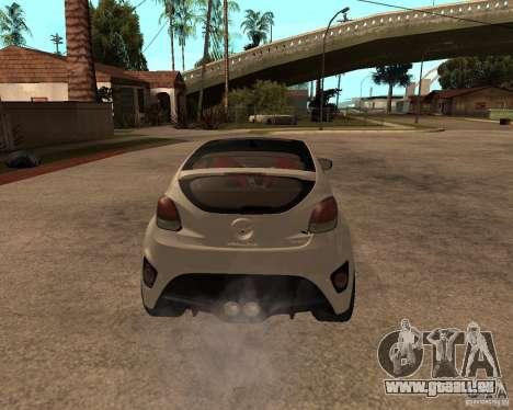 Hyundai Veloster 2012 für GTA San Andreas zurück linke Ansicht
