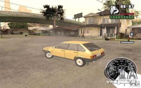 VAZ 21093i pour GTA San Andreas vue intérieure