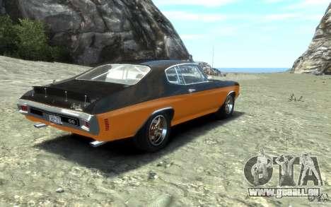 Chevrolet Chevelle SS 1970 pour GTA 4 Vue arrière