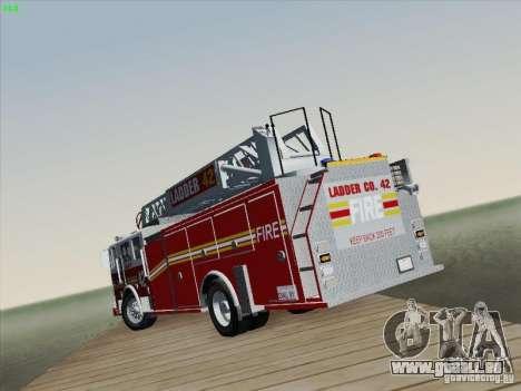 Seagrave Ladder 42 pour GTA San Andreas vue de dessous