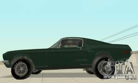 Ford Mustang Bullitt 1968 v.2 für GTA San Andreas zurück linke Ansicht