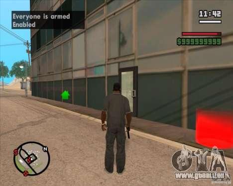 CJ-maire pour GTA San Andreas deuxième écran